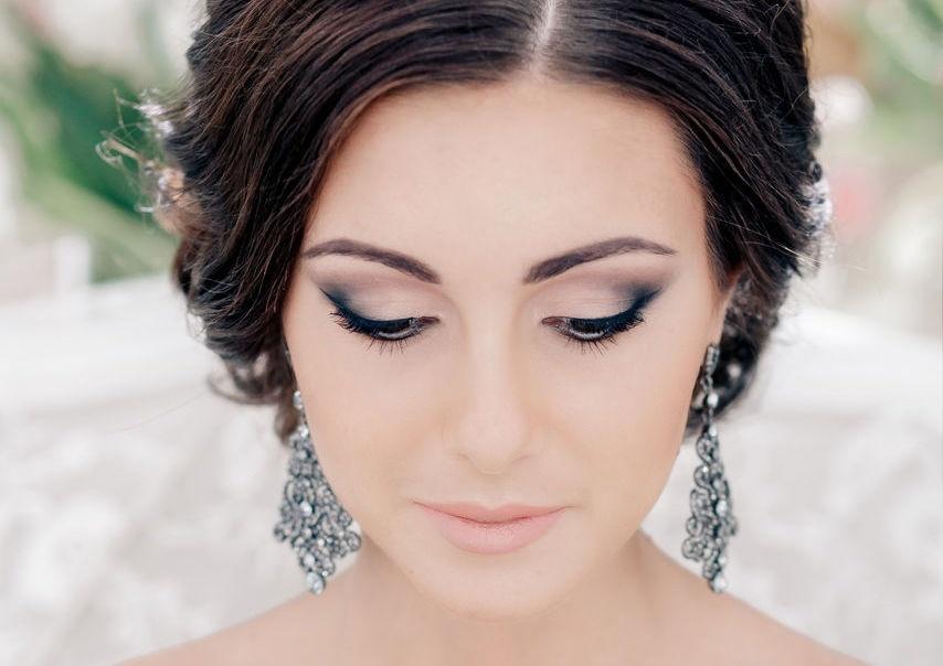 Фото макияж на свадьбу серые глаза