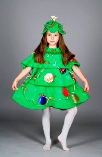 Новогодний костюм для девочки своими руками видео