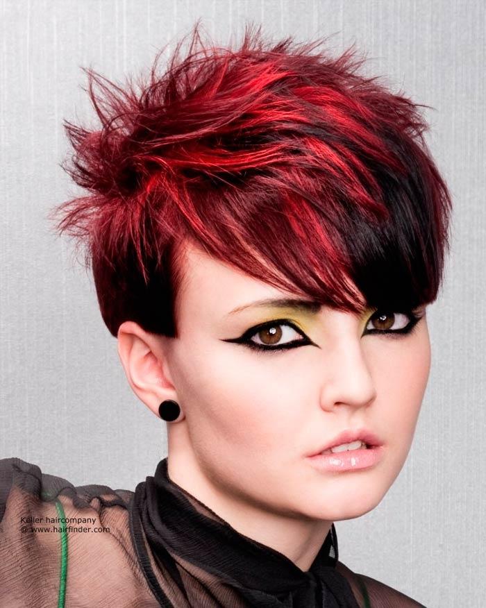 Короткие стрижки с черным цветом волос