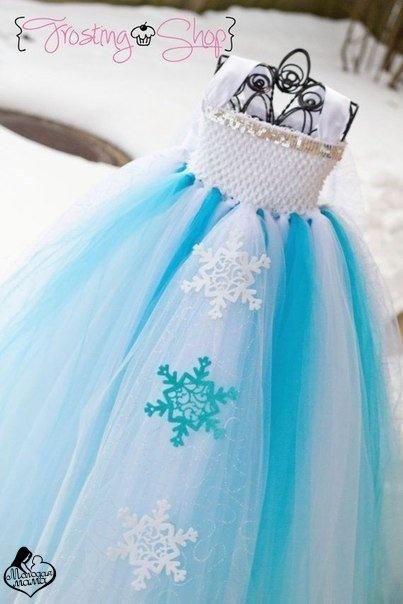 Креативный костюм снежинки