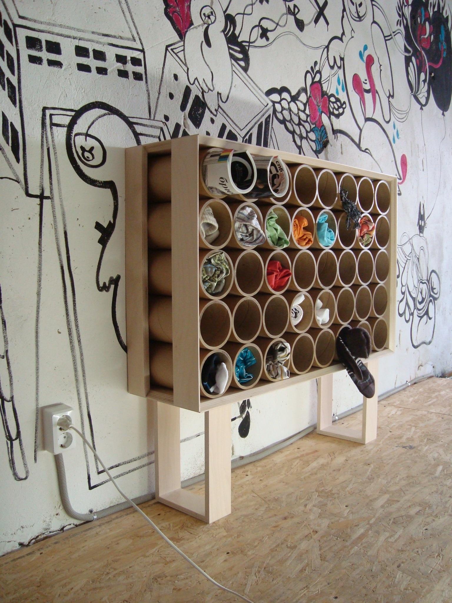 Изделия из картонных труб