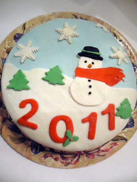 Торт из мастики своими руками новогодний