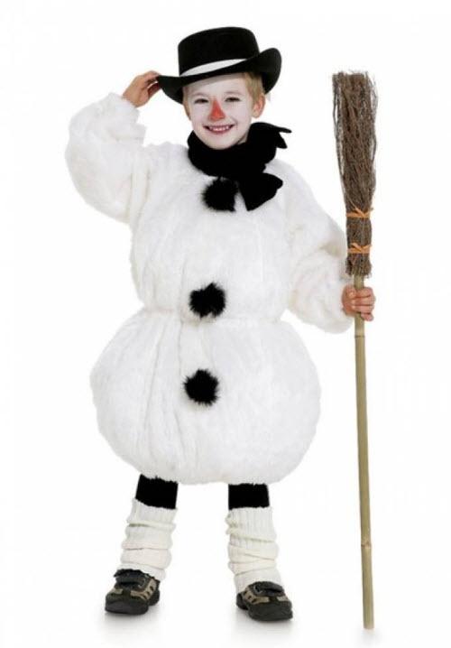 Как сшить костюм снеговика для мальчика своими руками выкройка