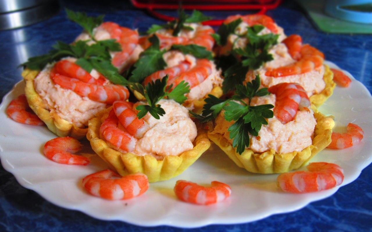 Креветки салат в тарталетках рецепты с