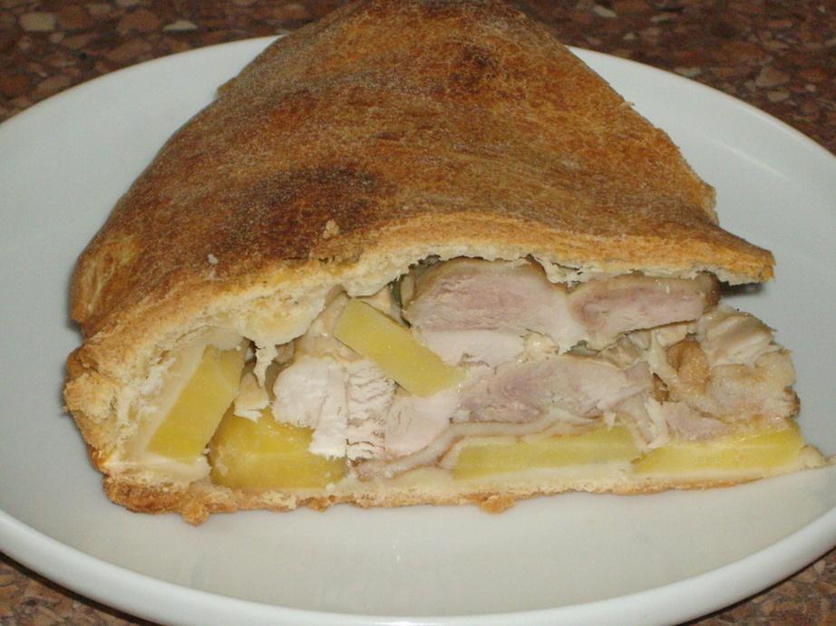 Курник из курицы с картофелем пошаговый рецепт с из дрожжевого теста