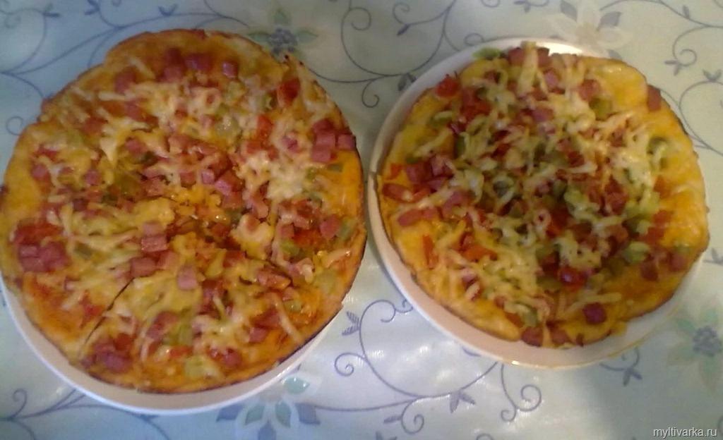 Пицца в мультиварке с фото пошагово