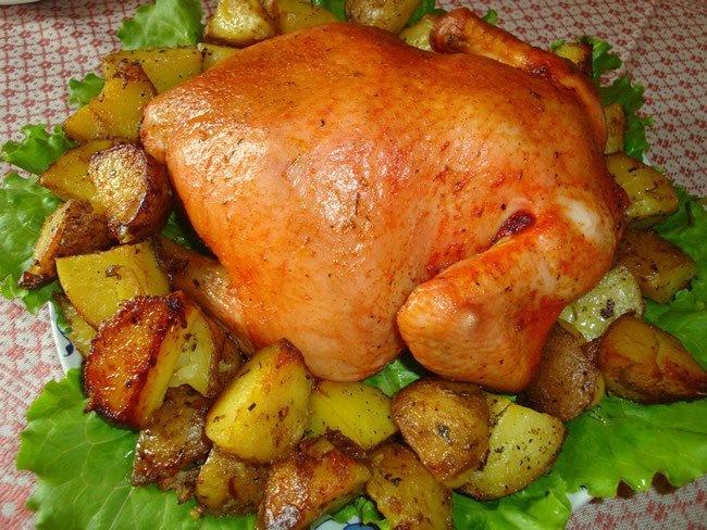 Рецепт запекания курицы с картошкой в духовке в пакете