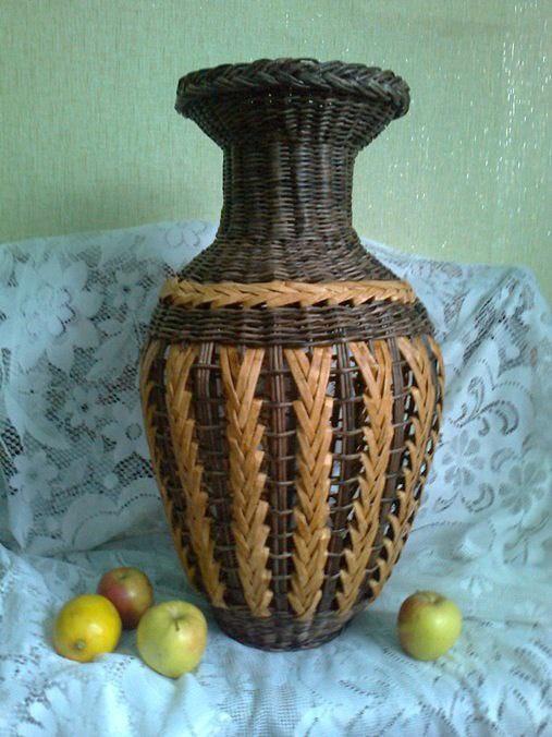 Маленькая ваза из газетных трубочек мастер класс с пошаговым фото