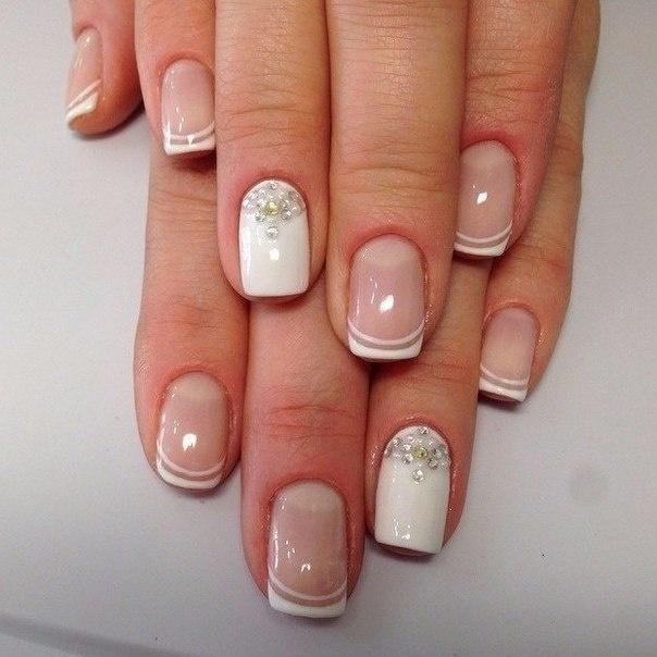 Фото френч короткие ногти