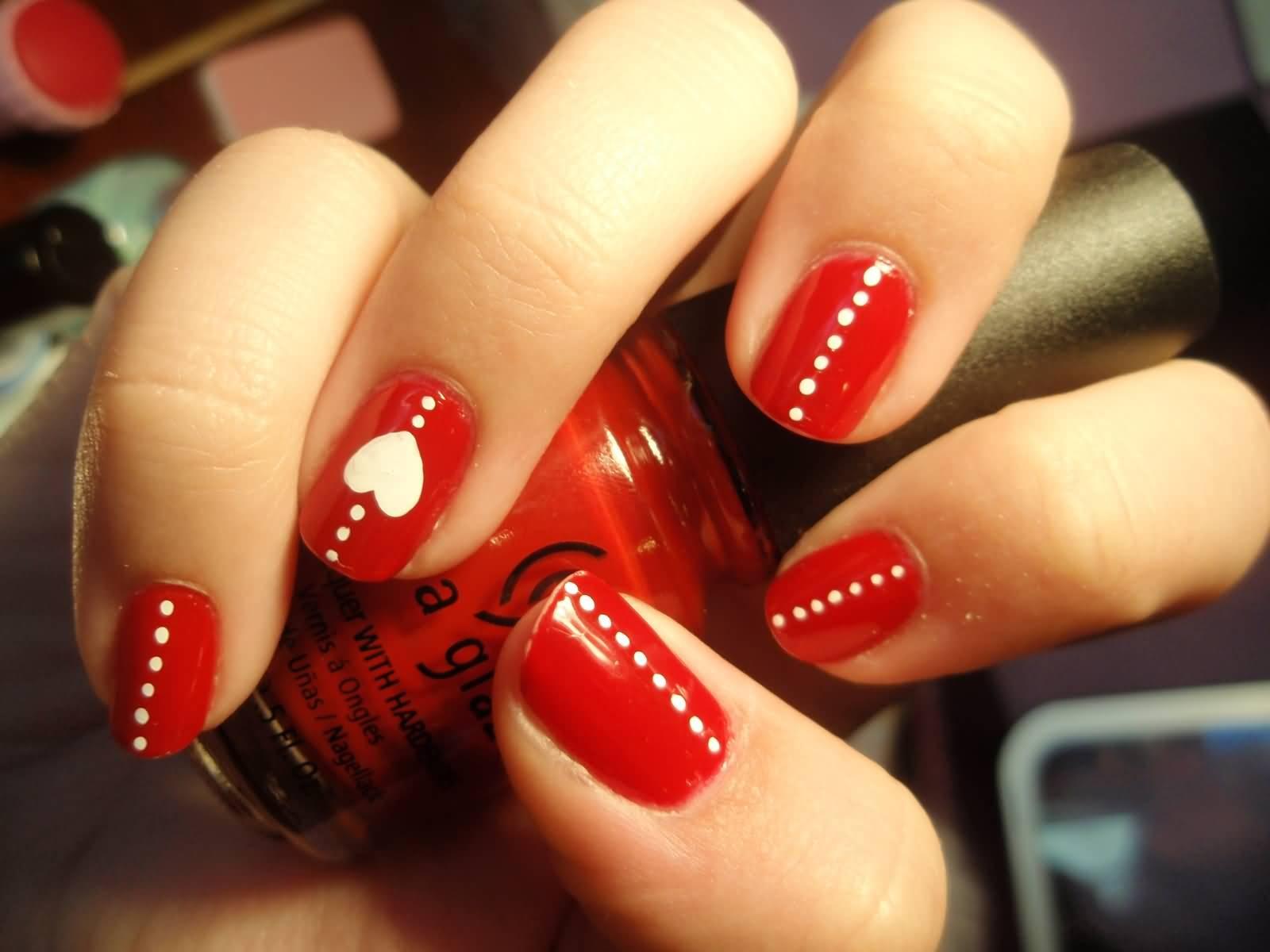 Идеи для ногтей в красном цвете
