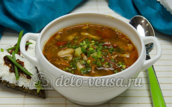 Суп картофельный с фасолью пошаговый рецепт с