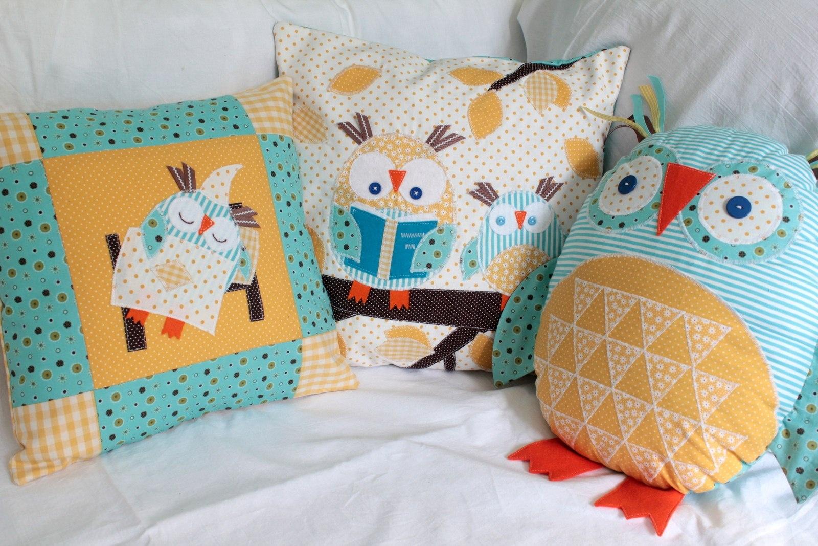 Подушки с совами своими руками фото