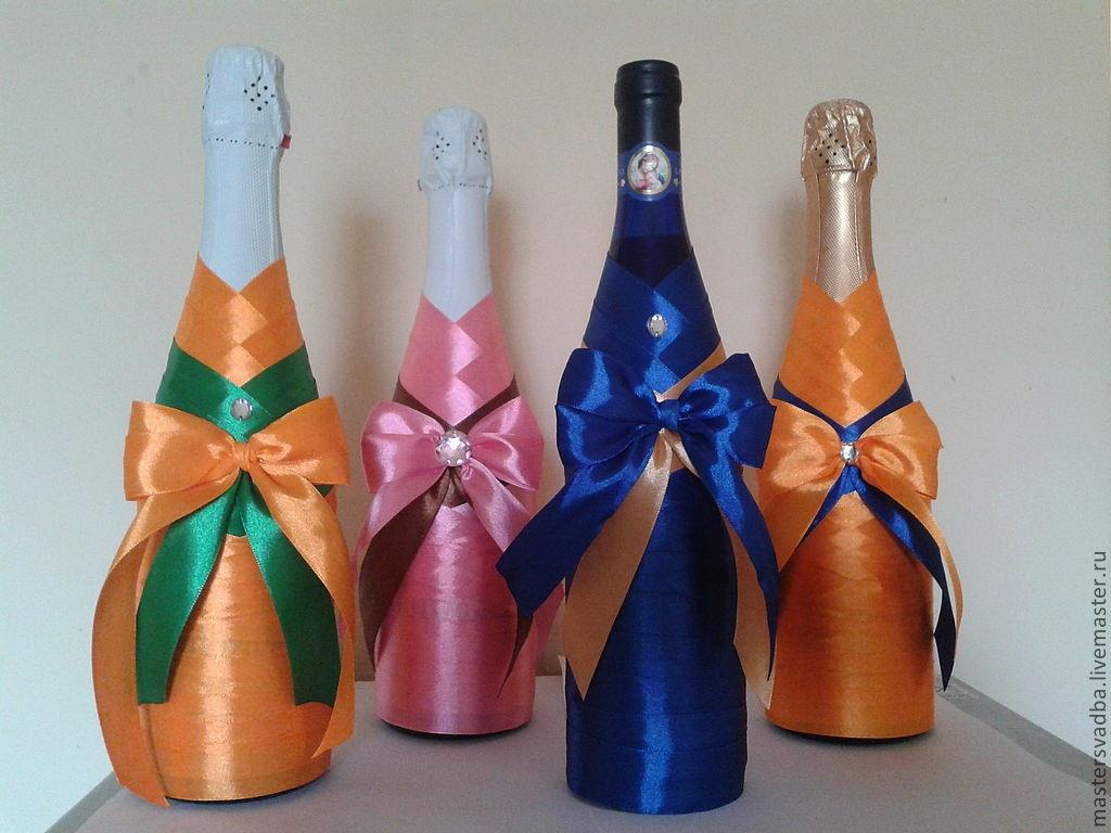 Бутылка шампанского оформленная своими руками