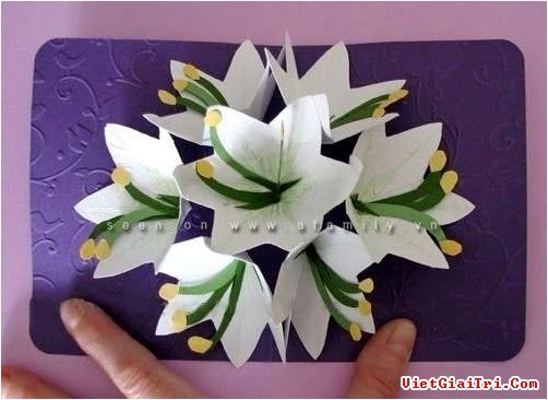 Объёмные открытки своими руками цветы