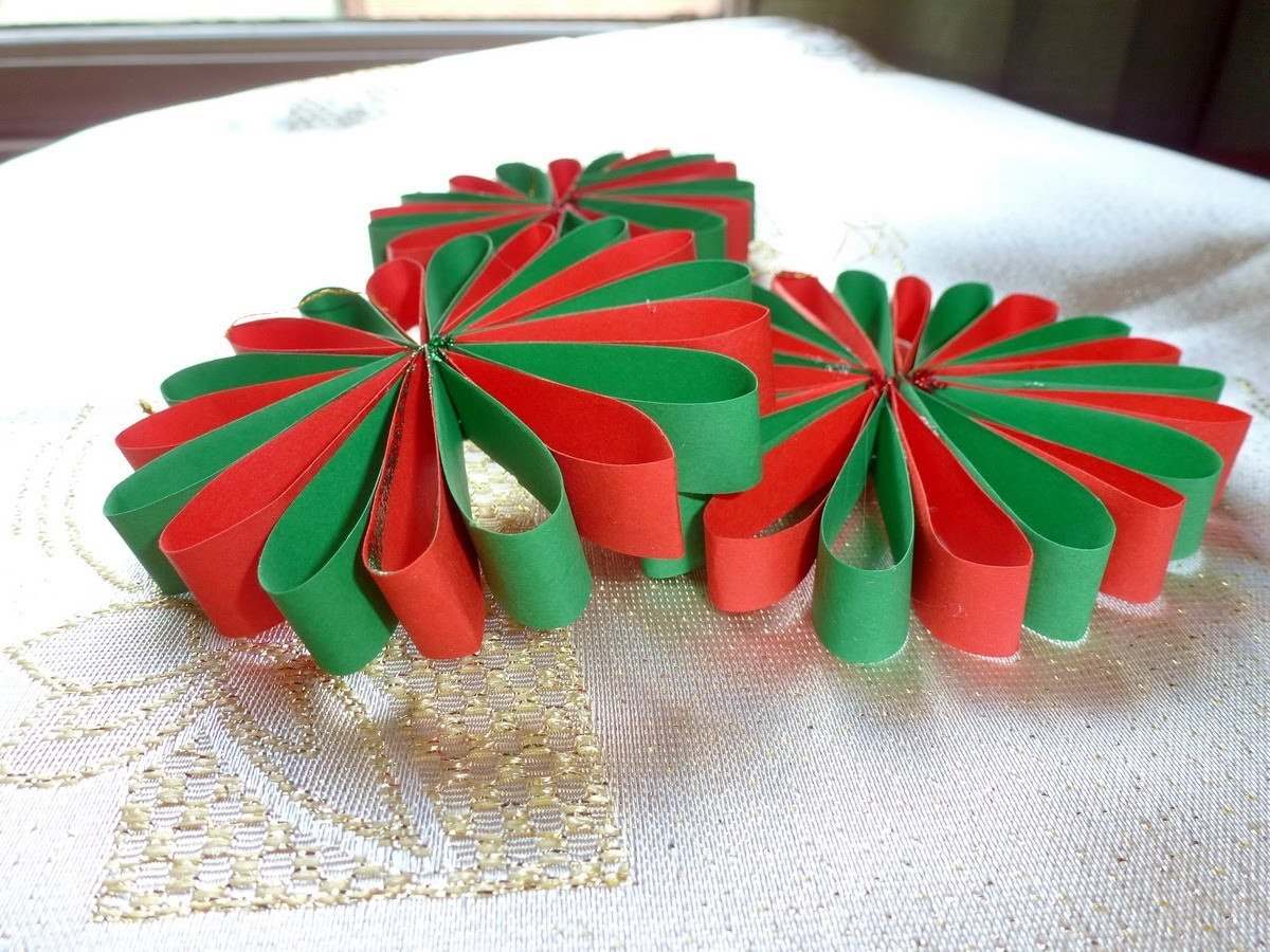 Елочные игрушки своими руками из бумаги для детей