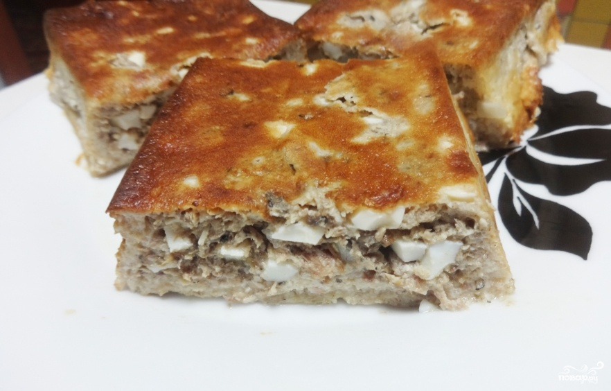 Рыбный пирог на кефире в духовке рецепт пошагово в