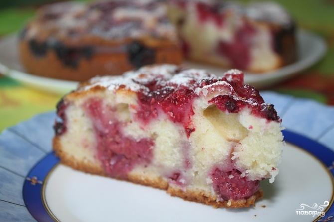 Пирог в мультиварке с малиной замороженной рецепт с фото