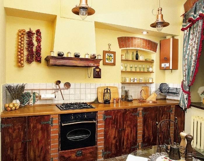 дизайн кухни фото в сельском доме
