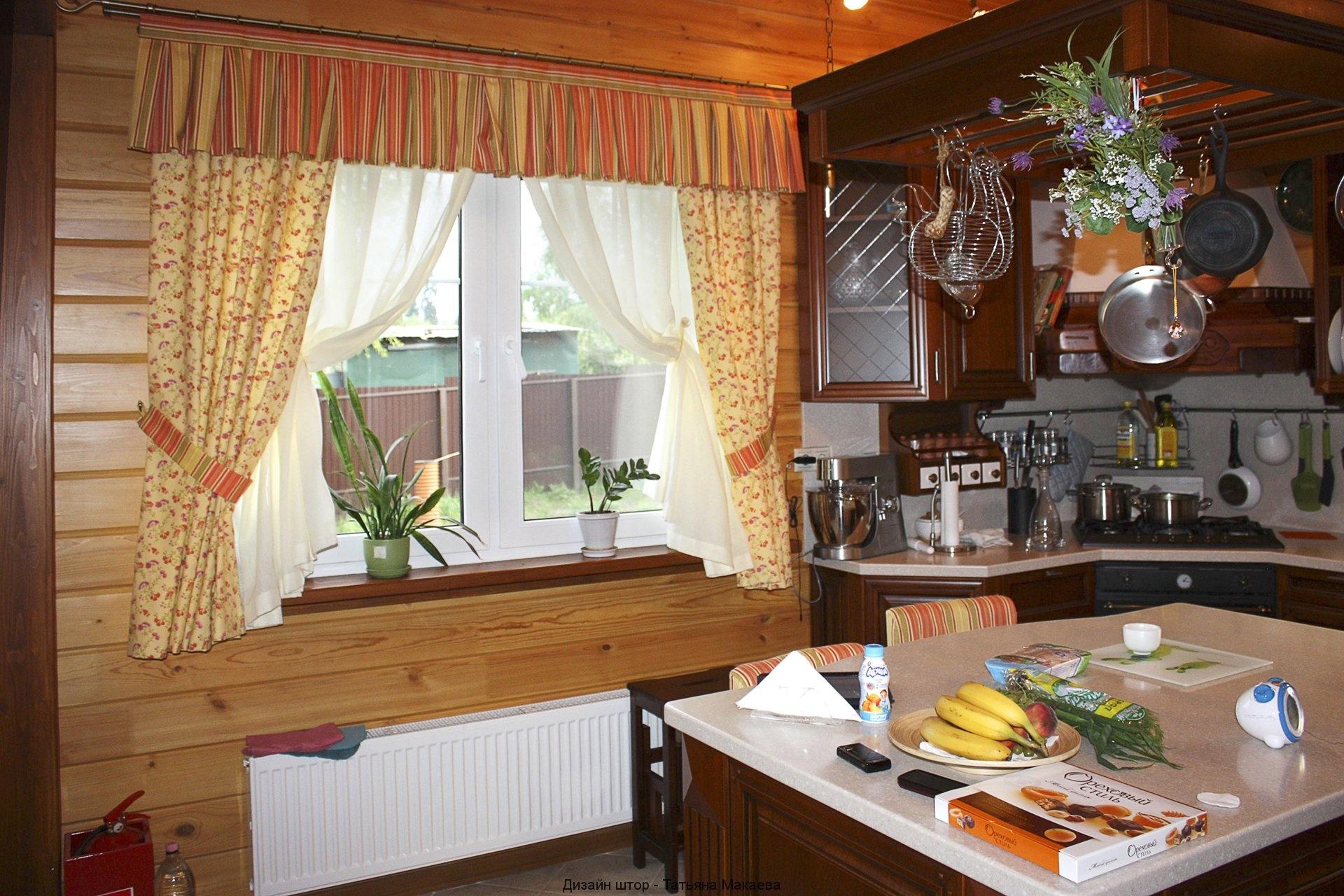 Красивые занавески на кухню своими руками