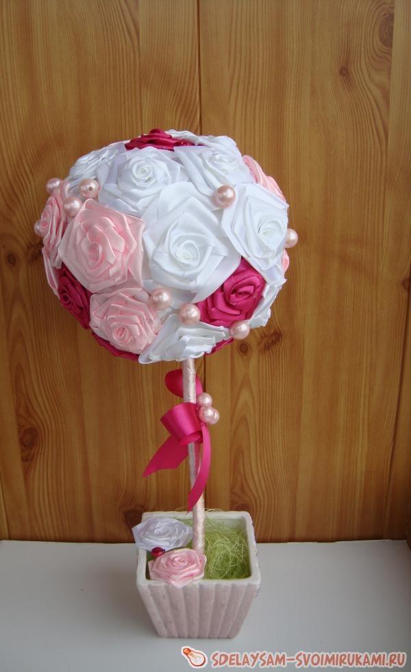 Красивые топиарии из роз