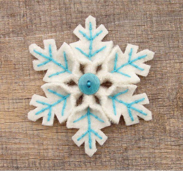 Снежинки из материала своими руками