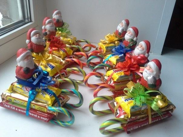Новогодний подарки из конфет своими руками
