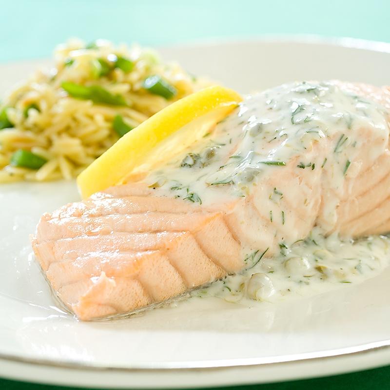 Филе рыбы в сливочном соусе