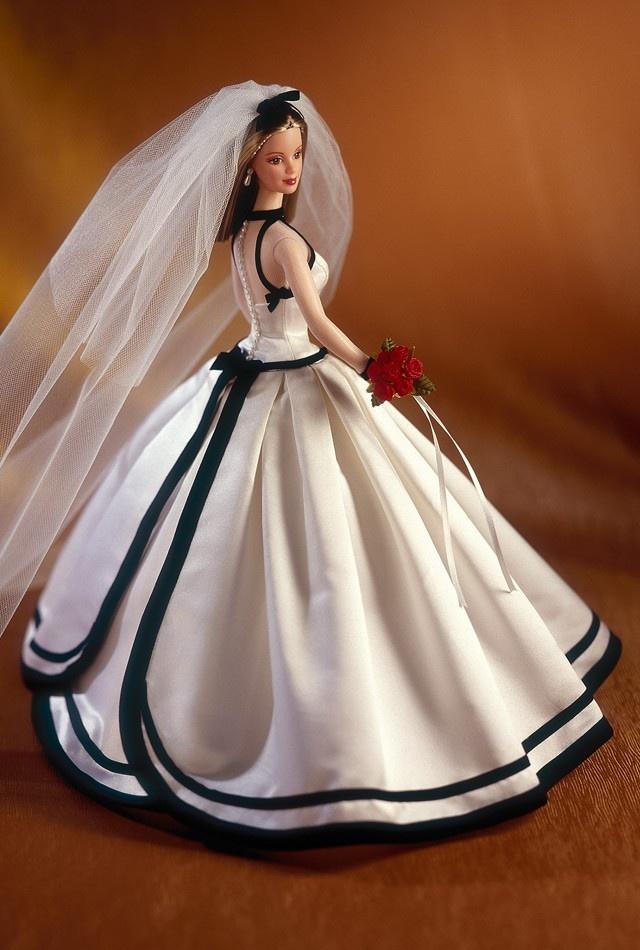 Платье для куклы свадебное своими руками