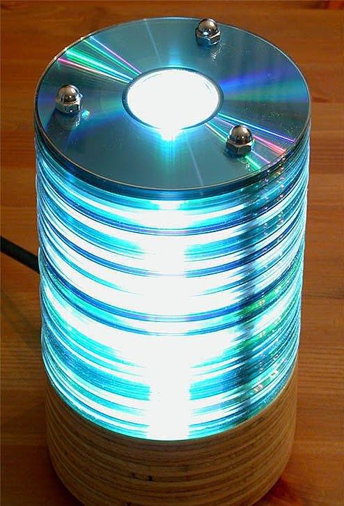 Как сделать люстру из дисков