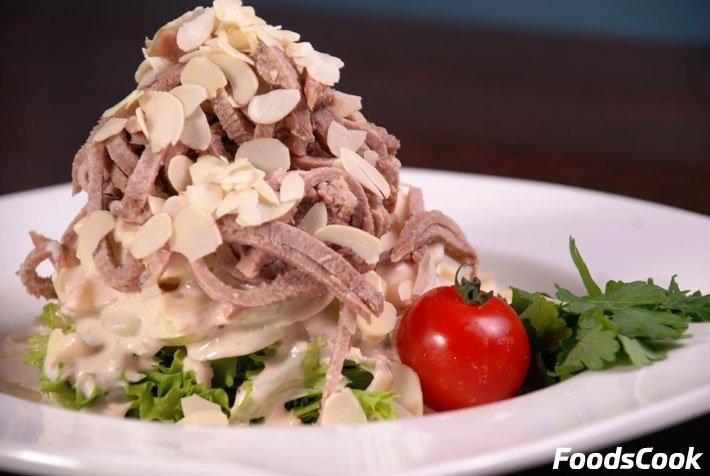 Пошаговый рецепт салат с языком свиным