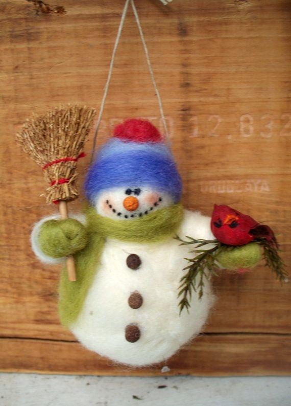 Снеговик из шерсти - карточка от пользователя Игорь Малярчук в Яндекс.Коллекциях