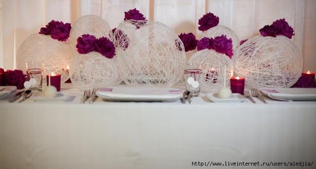 Украшения на свадьбу на стол своими руками
