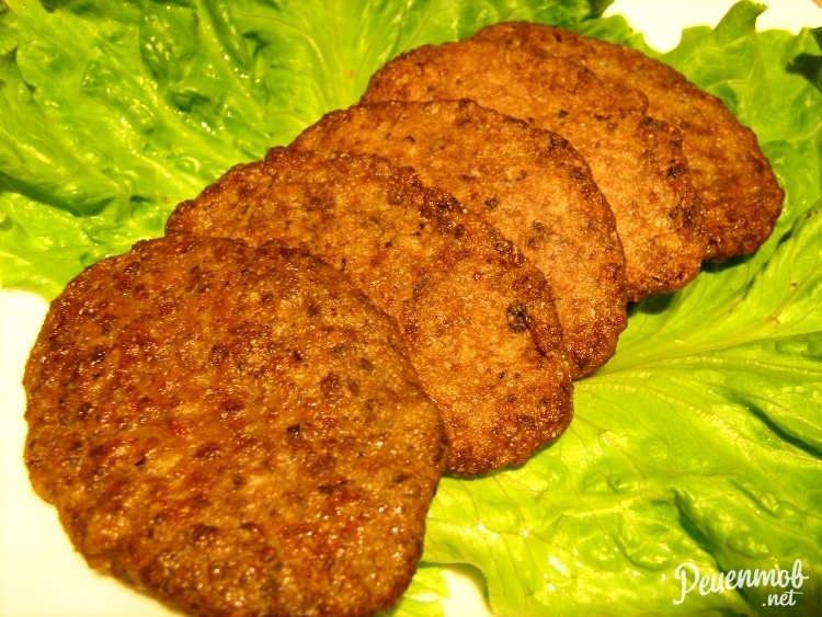 Печёночные котлеты с манкой рецепт с фото пошагово