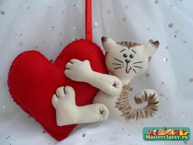 Мягкая игрушка своими руками валентинка