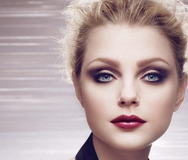 Вечерний макияж круглые глаза и лицо