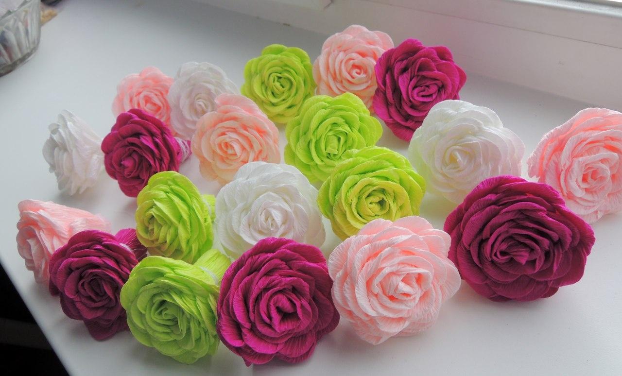 Гофрированные цветы розы