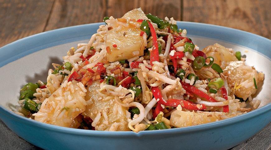 Рецепты горячих салатов с