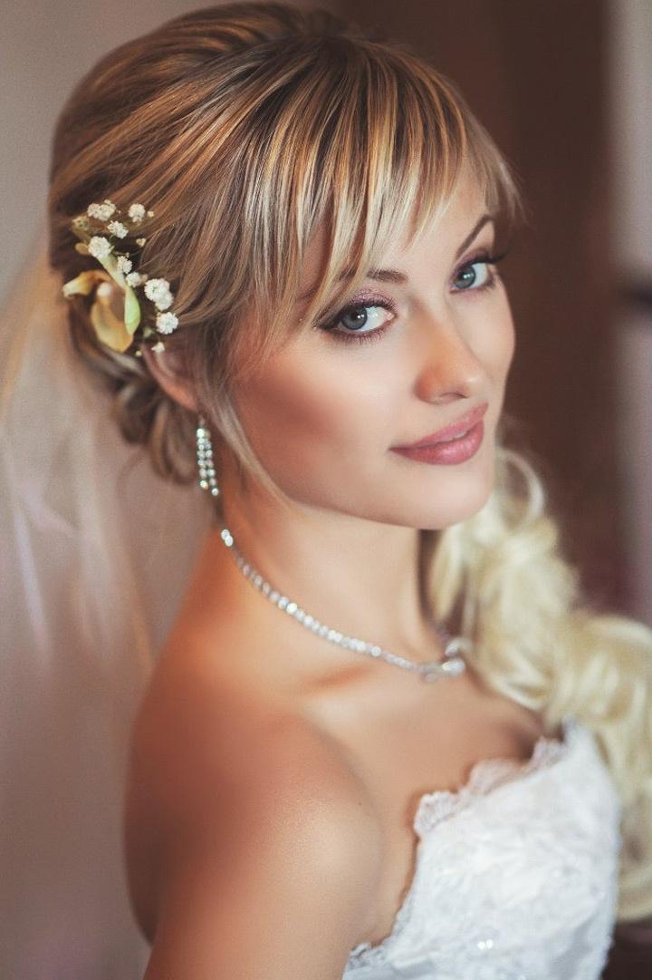 Свадебная прическа для невесты на короткие волосы