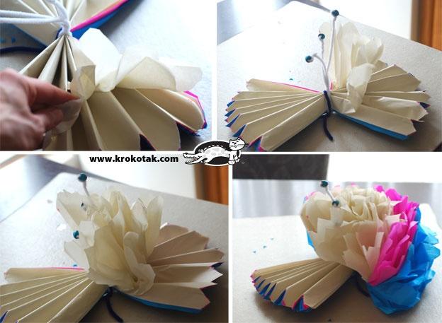 Цветок объемный из гофрированной бумаги своими руками