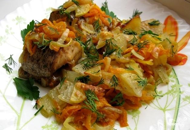 Щука в духовке с овощами рецепты с фото целиком пошаговый рецепт