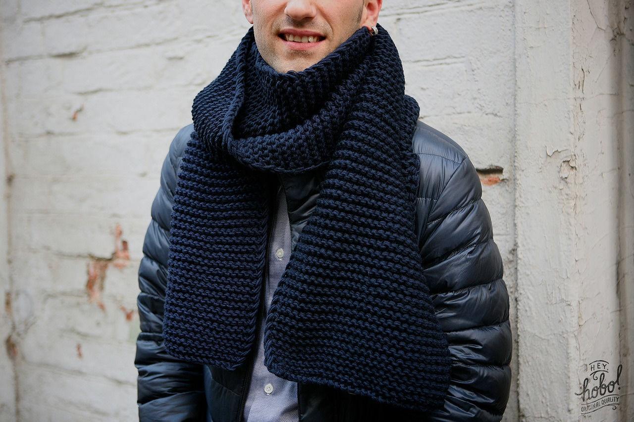 Как вязать шарфы парню