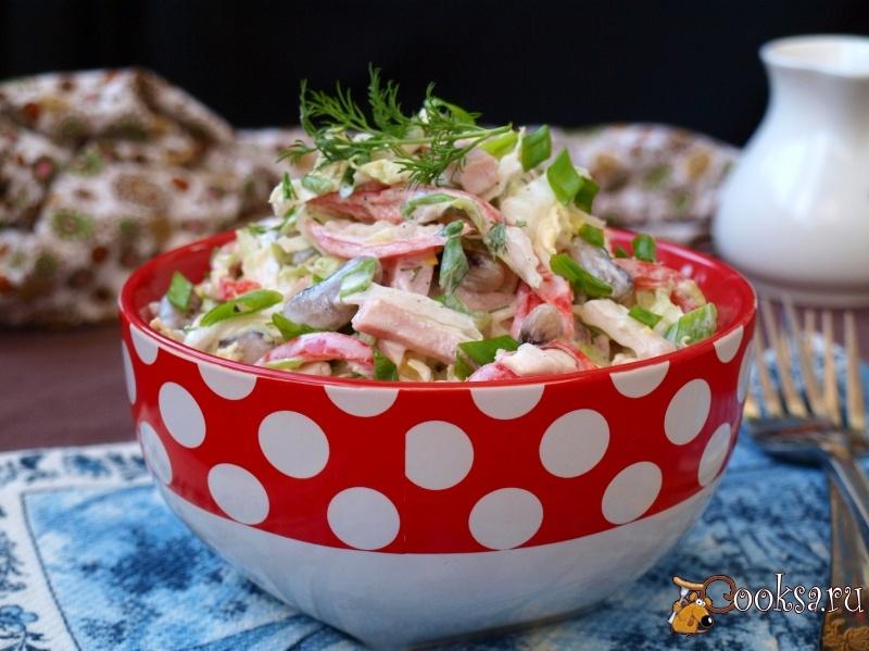Салат из пекинской капусты с фасолью