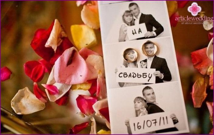 Оригинальные приглашение на свадьбу