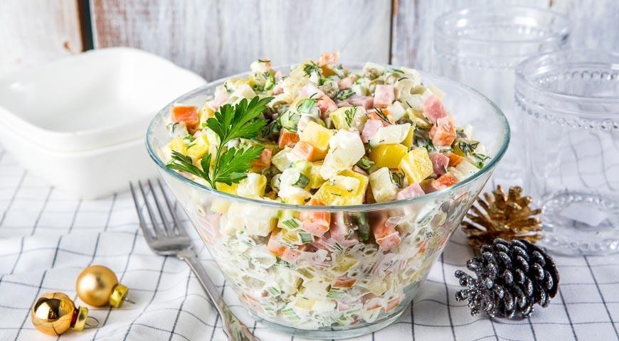Салат на новый год рецепт с классический