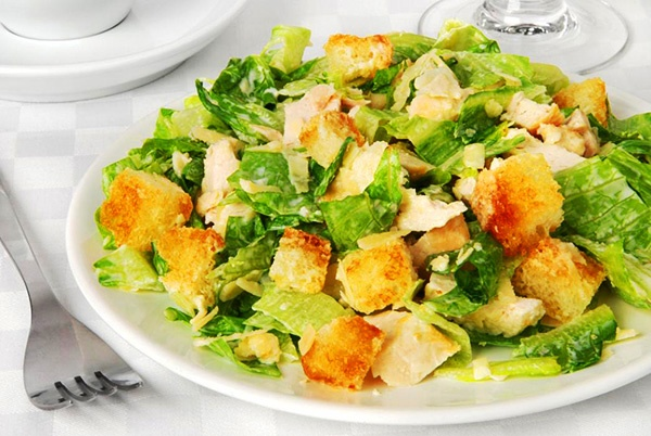 Пошаговый рецепт с салат цезарь