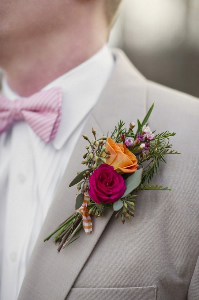 Бутоньерки из цветов