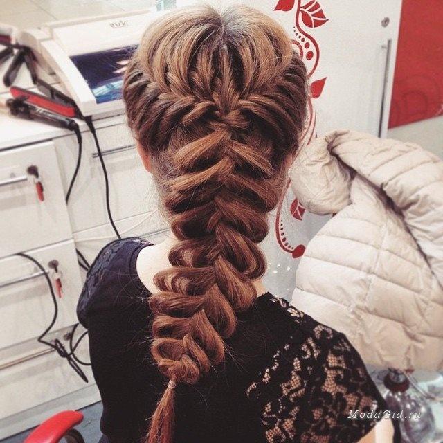 Прически волосы заплетены фото