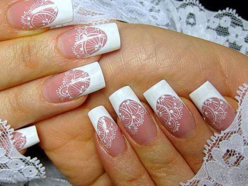 Свадебный дизайн ногтей своими руками