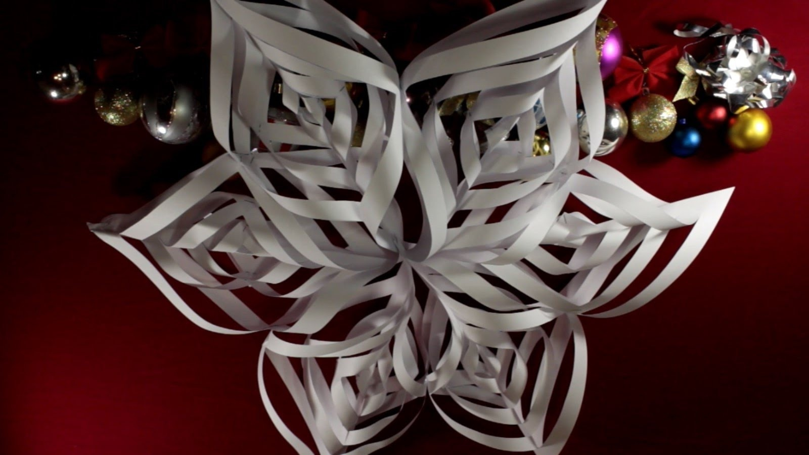 3d снежинки своими руками видео