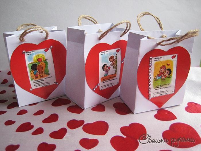 Подарок love is своими руками
